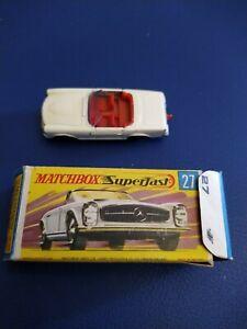 Matchbox superfast,OVP mit Mercedes 230SL,Nr. 27