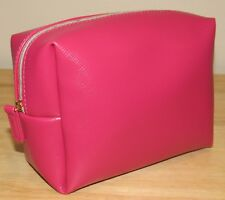 Ulta Pink Cosmetic Makeup Bag Faux-Leather NEW Clutch Toiletry Travel Lined
