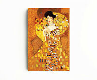 Canvas Fine Art Print- Gustav Klimt Lady In Gold Dress Art Reproduction,Wall Art