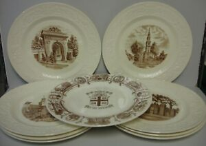 Wedgwood BROWN UNIVERSITY Dinner Plate CHOICE SCENE More Available