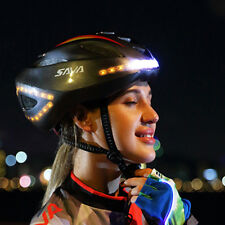 USB Rechargeable Smart Cycling MTB Bike Bicycle Helmet With LED Signal Light AU