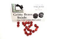 Gritty Brass Beads Ø 3,8mm Hareline 20 Stück Texturierte Messing Beads GREY GRIT