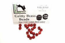 Gritty Brass Beads Ø 3,8mm Hareline 20 pezzi esibisce OTTONE BEADS RED Grit
