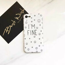 Creative White Milk Smile Face Ring Soft Case Cover Skin for iPhone 6S 7 Plus