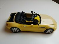 Burago 1/18th scale BMW M Roadster (1996) Yellow FAST FREE SHIPMENT