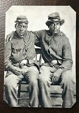 civil war 2 African Americans  soldiers tintype #C020RP