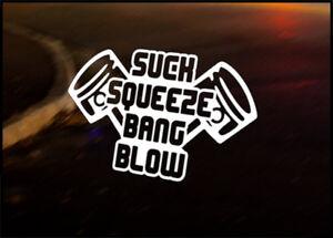 SUCK SQUEEZE BLOW car vinyl decal vehicle bike graphic bumper sticker Funny