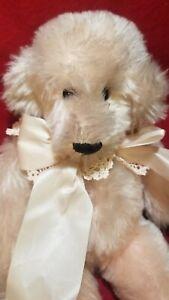 """Barbara McConnell """"Crystal Ice"""" artist teddy bear mohair LE for Decama Bear Shop"""