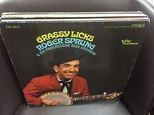 Roger Sprung Grassy Licks vinyl LP VERVE 1966 Stereo