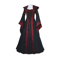 Ladies Victorian Halloween Womens Dress Costume Long Fancy Ball Masquerade