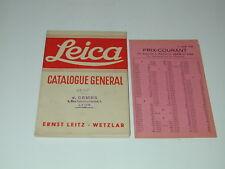 LEICA LEITZ catalogue général 1935 photo photographie
