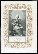 santino incisione 1800 S.GREGORIO MAGNO PAPA
