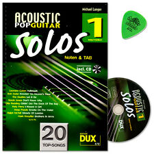 Acoustic Pop Guitar Solos 1 - Noten+TAB - Edition DUX - DUX878 - 9783868491876