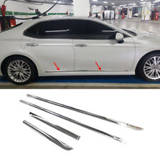 fit Toyota Camry 2018 Chrome Body Side Door Molding line Cover Trim Garnish