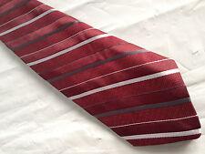 Mens Red Black Gray Tie Necktie KETCH ~ FREE US SHIP (7621)