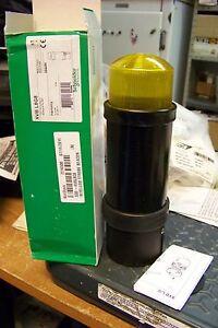 nib schneider electric xvbl8g8 yellow strobe beacon warning light