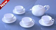 Luxury Premium Porcelain / Ceramic Tea / Coffee Set - 'Snow Flack' - 9 Pieces