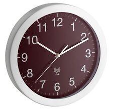 Horloge murale radio-pilotée Lausanne cuivre 25 cm Aluminium verre véritable TFA