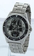 DARTH VADER STAR WARS SILVER and BLACK tone Watch BRAND NEW IN Collectible Box