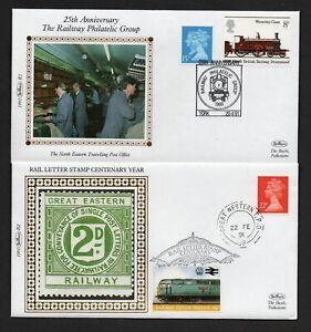 4 x 1991Benham Silk Railway Covers See 2 Scans & Description For Detail R1 to R4