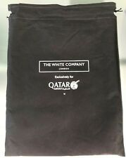 Business Class Pyjama Schlafanzug + Slipper QATAR Airways white company M od. L