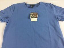 Woolrich Shirt Womens Small Sky Blue Reflex Stretch Casual Short Sleeve Comfort