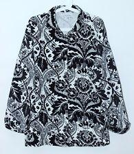 Marimekko MIKA PIIRAINEN Cotton Corduroy Jacket Black White Size XL