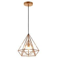 [lux.pro] Deckenleuchte Kupfer [37cm x 40cm] Deckenlampe Lüster Hängeleuchte