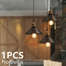 Retro Metal Ceiling Pendant Lamp Light Shade Easy Fit Lampshade Holder Kitchen