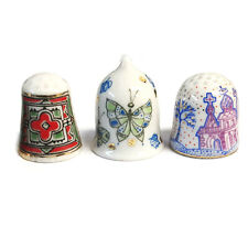 Lomonosov Porcelain Thimbles  SET OF 3 PCS