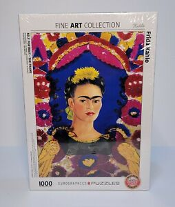 Frida Kahlo Self Portrait 1000 Piece Puzzle Fine Art Collection Eurographic