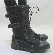 Blacks  Rugged Military Combat  Riding Winter ankle sexy boots Size  8