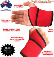 Austodex weight lifting fitness wrist support gym brace thumb bar wraps straps