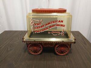 Vintage  Sunbeam The Great American Popcorn Machine Corn Popper Wagon