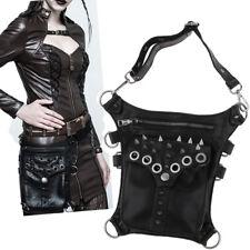 Nieten Kunstleder Vintage Gothic Steampunk Damen Handtasche verstellbare