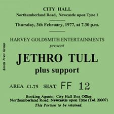 Jethro Tull Concert Coasters Ticket February 1977 High quality coaster