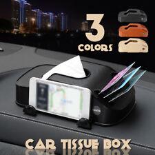 Car Tissue Holder Box Paper Case Cover Phone Card Holder Napkin Storage Box