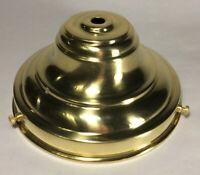 "New Unfinished Spun Brass 6"" Fitter Fixture Shade Holder With Set Screws #SH766U"