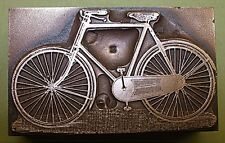 """OLD BICYCLE"" PRINTING BLOCK."