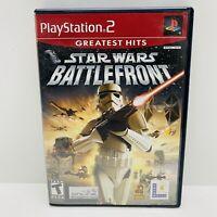 Star Wars: Battlefront GREATEST HITS (Sony PlayStation 2, 2004) CIB W/ Manual