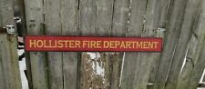 """CUSTOM FIRE DEPARTMENT WOOD SIGN HAND PAINTED  VINTAGE STYLE 4FT X 5 1/2"""""""