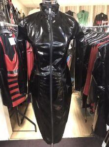 Misfitz top quality blk  Pvc mistress dress 2 way zip size 26. TV Cross-dresser