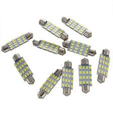10x 42mm 16 LED Voiture Interieur Blanche SMD 3528 Plafonnier Lampe Ampoule 2 u1
