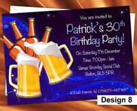 Personalised Birthday Party Invitations 18th 21st 40th 50th 60th Ages Invites
