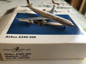 Herpa Gulf Air Airbus A340-300 Model 1:500 504560  SEE NOTES