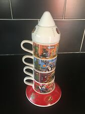 More details for rare warner bros marvin the martian rocket cup stack from 1999