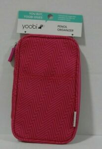 Yoobi Pencil Organizer Zipper Pouch Case Pink Ziggy Design-Free Shipping