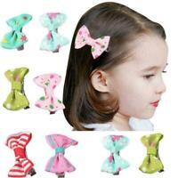 10PCS Kids Baby Girl's Bow Ribbon Hair Bow Mini Latch Clips Clip Hair Hairp Y8M1