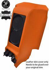 Centro posteriore Arancione SUBWOOFER PANNELLO Vera Pelle copertura si adatta a GT-R R35 2008-2017