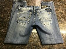 Women's Sz. 29 (32x30) Miss Me Straight Medium Wash Jeans MINT!